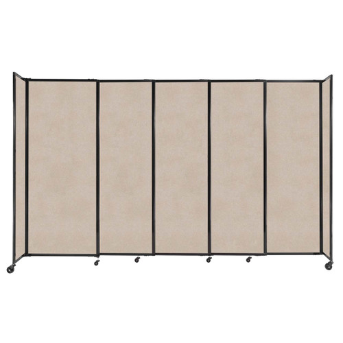 """StraightWall Sliding Portable Partition 11'3"""" x 6'10"""" Beige High Density Polyester"""