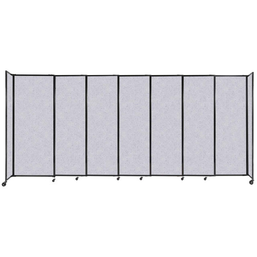 """StraightWall Sliding Portable Partition 15'6"""" x 6'10"""" Marble Gray High Density Polyester"""