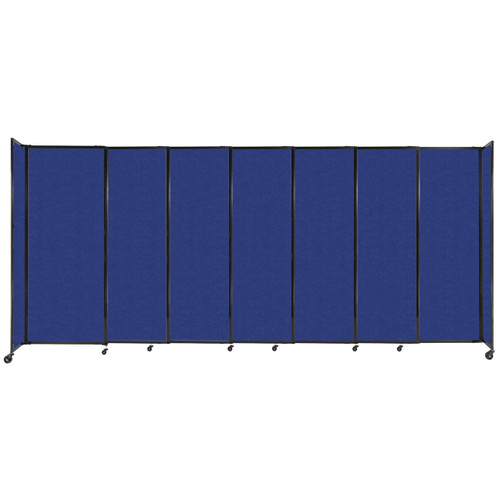 """StraightWall Sliding Portable Partition 15'6"""" x 6'10"""" Blue High Density Polyester"""