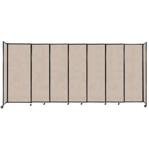 """StraightWall Sliding Portable Partition 15'6"""" x 6'10"""" Beige High Density Polyester"""
