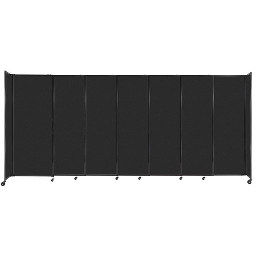 """StraightWall Sliding Portable Partition 15'6"""" x 6'10"""" Black High Density Polyester"""