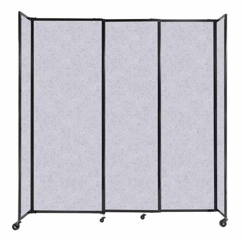 """StraightWall Sliding Portable Partition 7'2"""" x 7'6"""" Marble Gray High Density Polyester"""