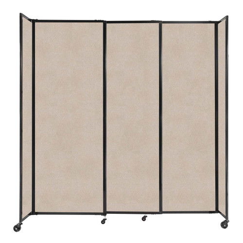 """StraightWall Sliding Portable Partition 7'2"""" x 7'6"""" Beige High Density Polyester"""