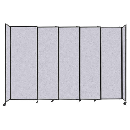 """StraightWall Sliding Portable Partition 11'3"""" x 7'6"""" Marble Gray High Density Polyester"""