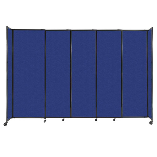 """StraightWall Sliding Portable Partition 11'3"""" x 7'6"""" Blue High Density Polyester"""