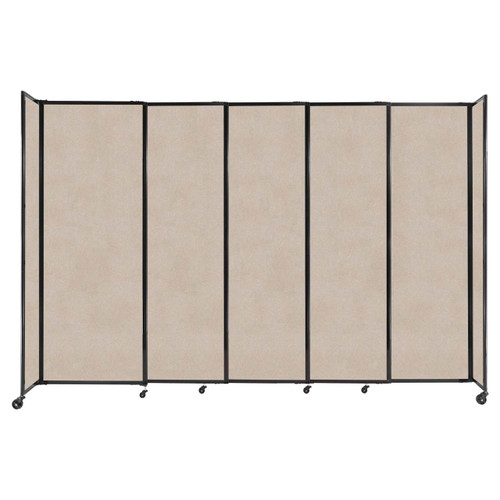 """StraightWall Sliding Portable Partition 11'3"""" x 7'6"""" Beige High Density Polyester"""