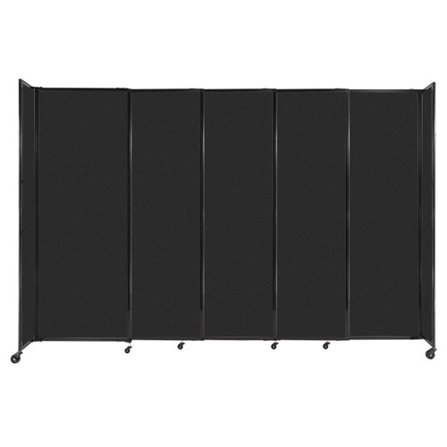 """StraightWall Sliding Portable Partition 11'3"""" x 7'6"""" Black High Density Polyester"""