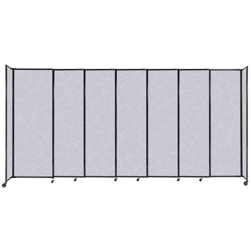 """StraightWall Sliding Portable Partition 15'6"""" x 7'6"""" Marble Gray High Density Polyester"""