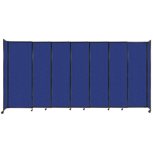 """StraightWall Sliding Portable Partition 15'6"""" x 7'6"""" Blue High Density Polyester"""