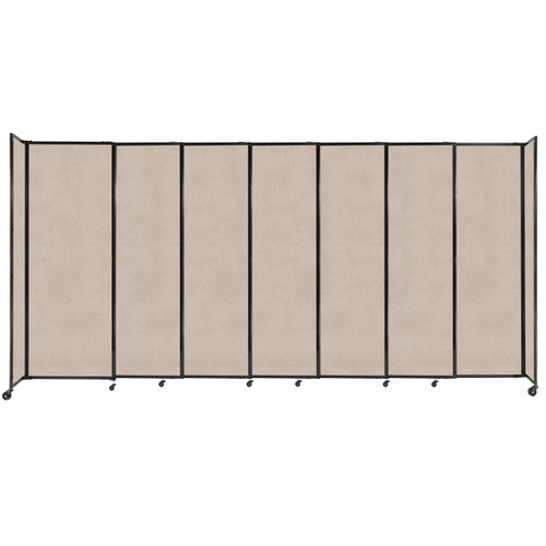 """StraightWall Sliding Portable Partition 15'6"""" x 7'6"""" Beige High Density Polyester"""