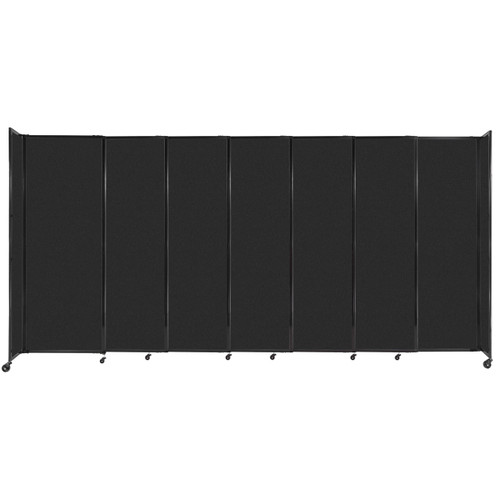 """StraightWall Sliding Portable Partition 15'6"""" x 7'6"""" Black High Density Polyester"""