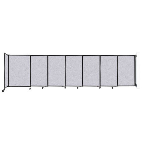 """Wall-Mounted StraightWall Sliding Partition 15'6"""" x 4' Marble Gray High Density Polyester"""