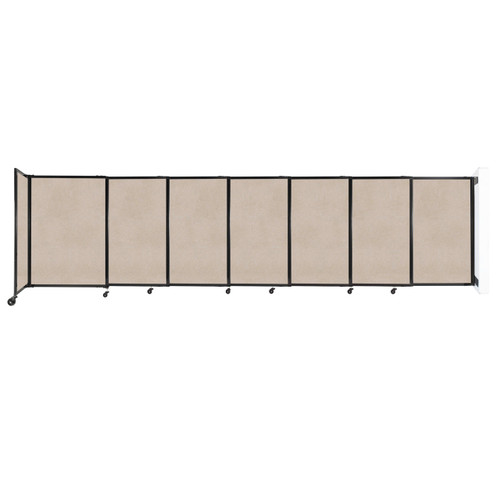 """Wall-Mounted StraightWall Sliding Partition 15'6"""" x 4' Beige High Density Polyester"""