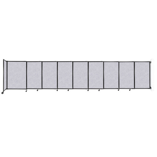 """Wall-Mounted StraightWall Sliding Partition 19'9"""" x 4' Marble Gray High Density Polyester"""