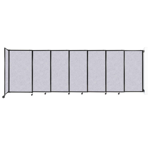 """Wall-Mounted StraightWall Sliding Partition 15'6"""" x 5' Marble Gray High Density Polyester"""
