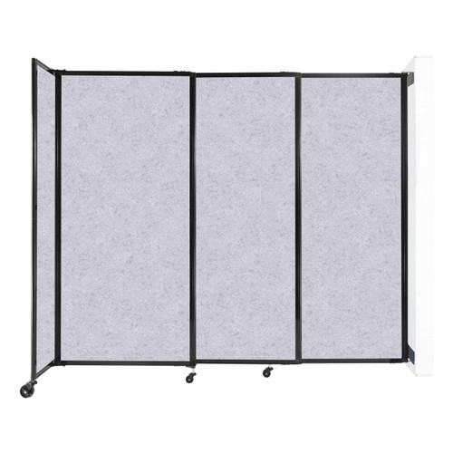 """Wall-Mounted StraightWall Sliding Partition 7'2"""" x 6' Marble Gray High Density Polyester"""