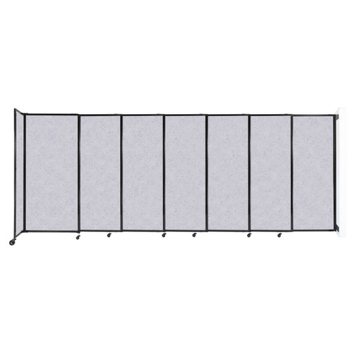 """Wall-Mounted StraightWall Sliding Partition 15'6"""" x 6' Marble Gray High Density Polyester"""