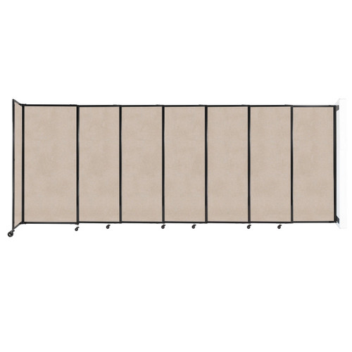 """Wall-Mounted StraightWall Sliding Partition 15'6"""" x 6' Beige High Density Polyester"""