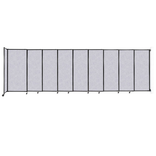 """Wall-Mounted StraightWall Sliding Partition 19'9"""" x 6' Marble Gray High Density Polyester"""