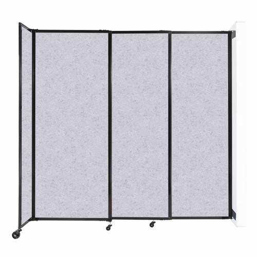 """Wall-Mounted StraightWall Sliding Partition 7'2"""" x 6'10"""" Marble Gray High Density Polyester"""