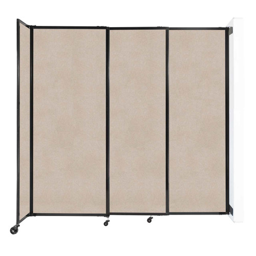 """Wall-Mounted StraightWall Sliding Partition 7'2"""" x 6'10"""" Beige High Density Polyester"""