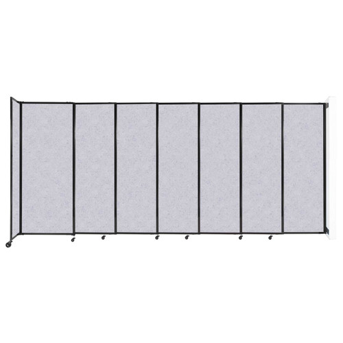 """Wall-Mounted StraightWall Sliding Partition 15'6"""" x 6'10"""" Marble Gray High Density Polyester"""