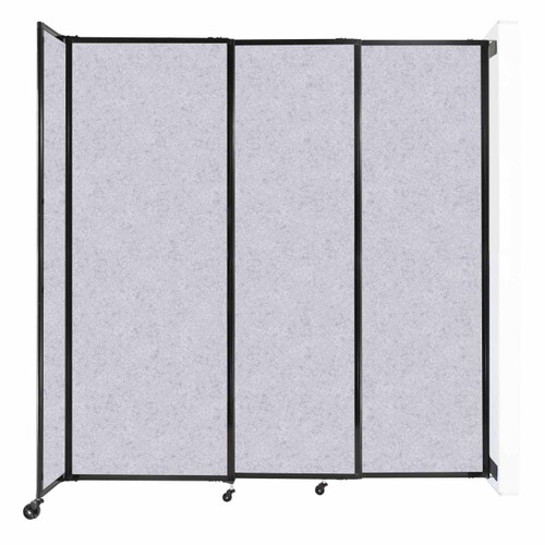"""Wall-Mounted StraightWall Sliding Partition 7'2"""" x 7'6"""" Marble Gray High Density Polyester"""