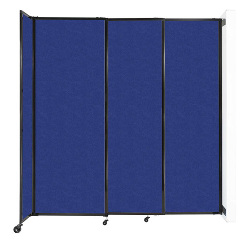 """Wall-Mounted StraightWall Sliding Partition 7'2"""" x 7'6"""" Blue High Density Polyester"""