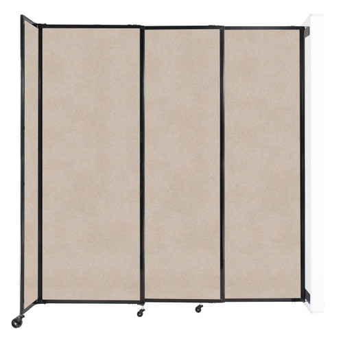 """Wall-Mounted StraightWall Sliding Partition 7'2"""" x 7'6"""" Beige High Density Polyester"""