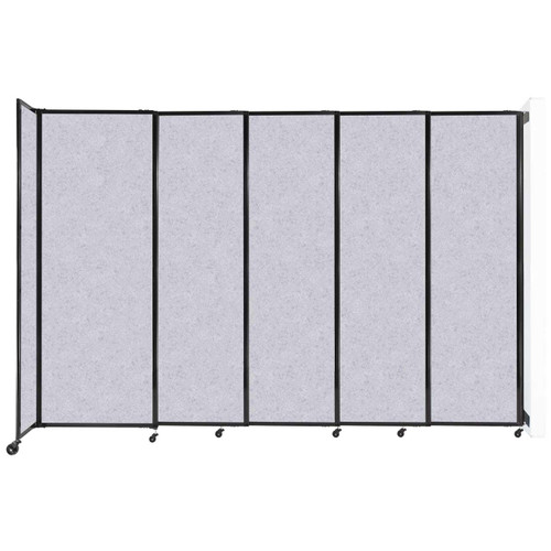 """Wall-Mounted StraightWall Sliding Partition 11'3"""" x 7'6"""" Marble Gray High Density Polyester"""