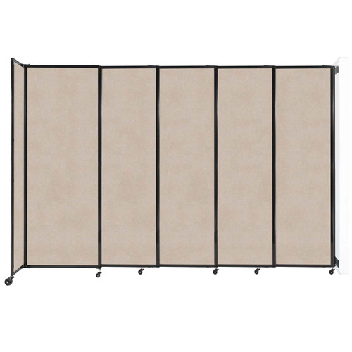 """Wall-Mounted StraightWall Sliding Partition 11'3"""" x 7'6"""" Beige High Density Polyester"""