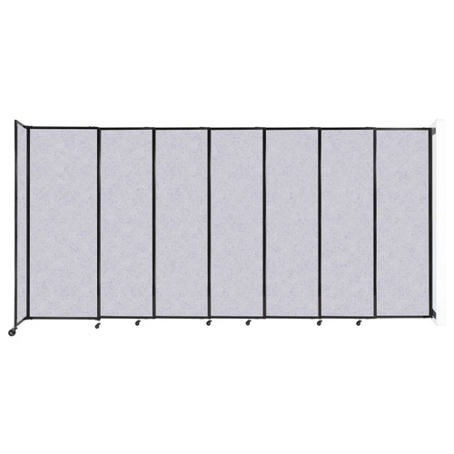 """Wall-Mounted StraightWall Sliding Partition 15'6"""" x 7'6"""" Marble Gray High Density Polyester"""