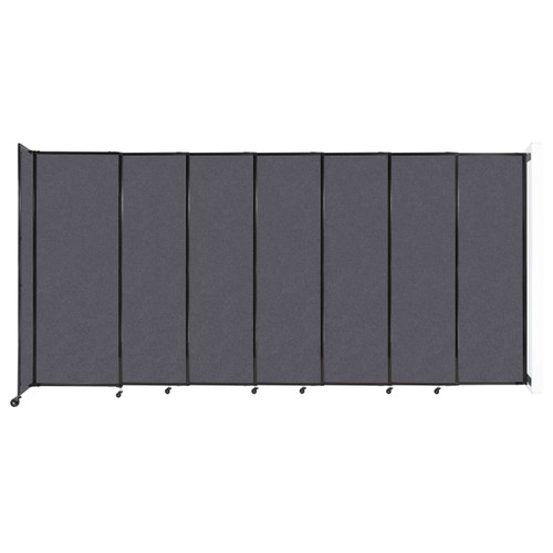 """Wall-Mounted StraightWall Sliding Partition 15'6"""" x 7'6"""" Dark Gray High Density Polyester"""