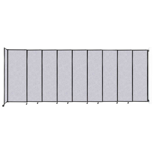 """Wall-Mounted StraightWall Sliding Partition 19'9"""" x 7'6"""" Marble Gray High Density Polyester"""