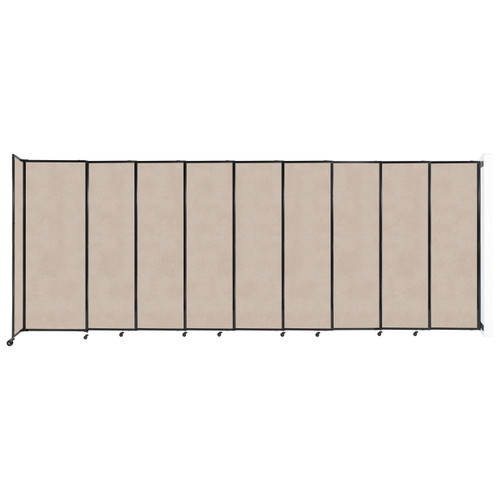 """Wall-Mounted StraightWall Sliding Partition 19'9"""" x 7'6"""" Beige High Density Polyester"""