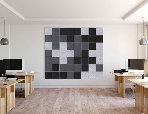 SoundSorb Squares placed in a unique pattern for a creative design