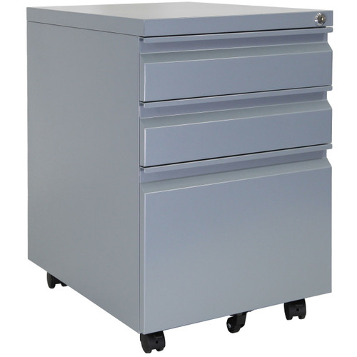 Roll the cabinet around on the casters when reorganizing your workspace.