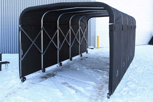 8' Wide Portable Equipment Shelter