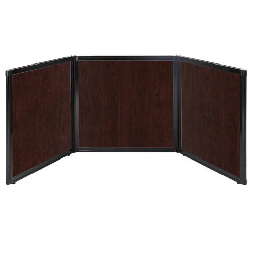 "Folding Tabletop Display 78"" x 24"" Espresso Cherry Wood Grain"