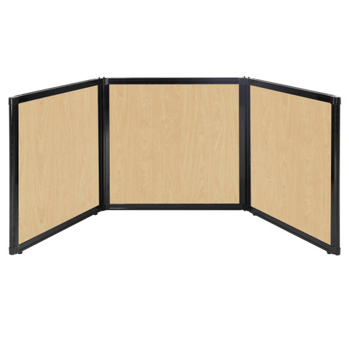 "Folding Tabletop Display 78"" x 24"" Natural Maple Wood Grain"