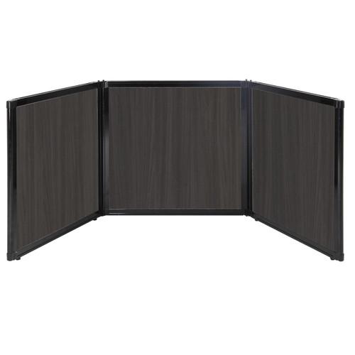 "Folding Tabletop Display 78"" x 24"" Carbon Ash Wood Grain"