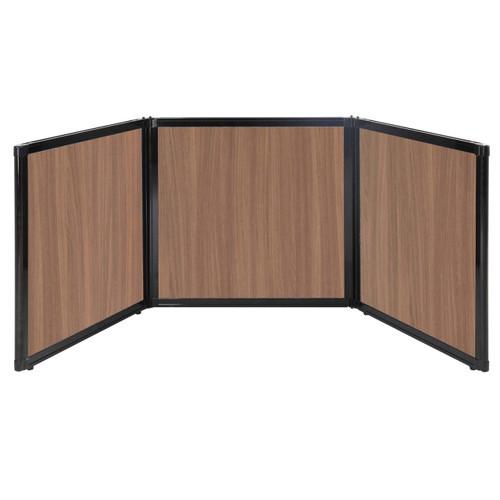"Folding Tabletop Display 78"" x 24"" River Birch Wood Grain"