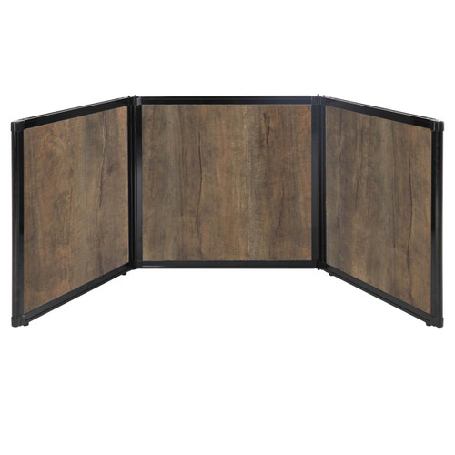 "Folding Tabletop Display 78"" x 24"" Urban Oak Wood Grain"
