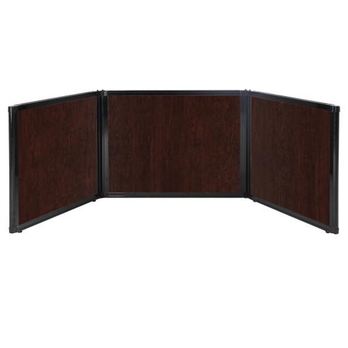 "Folding Tabletop Display 99"" x 24"" Espresso Cherry Wood Grain"