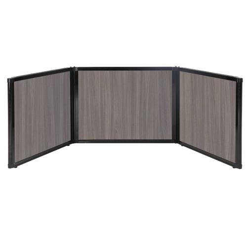 "Folding Tabletop Display 99"" x 24"" Gray Elm Wood Grain"