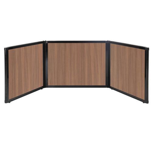 "Folding Tabletop Display 99"" x 24"" River Birch Wood Grain"