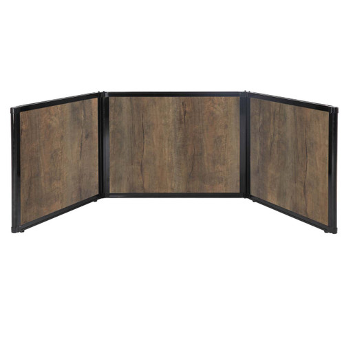 "Folding Tabletop Display 99"" x 24"" Urban Oak Wood Grain"