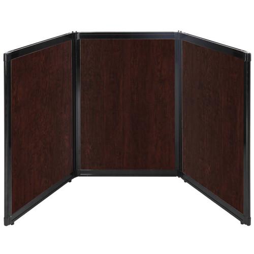 "Folding Tabletop Display 78"" x 36"" Espresso Cherry Wood Grain"