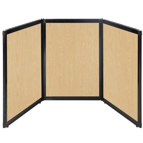 "Folding Tabletop Display 78"" x 36"" Natural Maple Wood Grain"