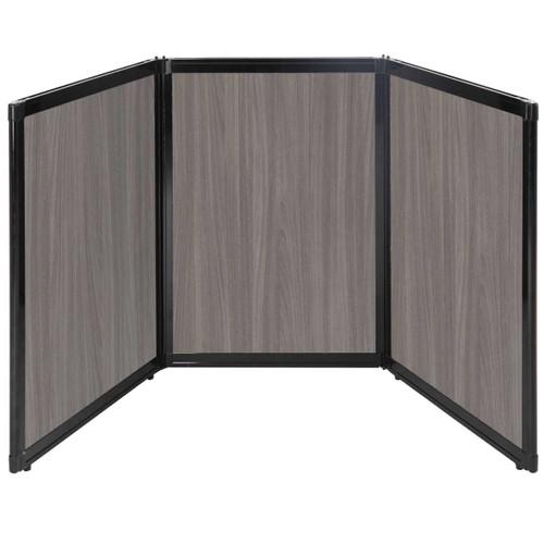 "Folding Tabletop Display 78"" x 36"" Gray Elm Wood Grain"